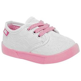 Tenis Bubble Gummers Coral Blanco Rosa #12 Al #17 Niña Oi
