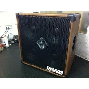 Caixa Teksound 4x10 Cone Celulose C/ Driver Esp P/ Baixo