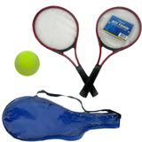 Raquete De Tenis Cj 2 Raquetes Bola Jogo Esporte Time