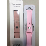 Correa Iwatch 38 Y 42 Mm Extensible Rosa Y Arena Silicon