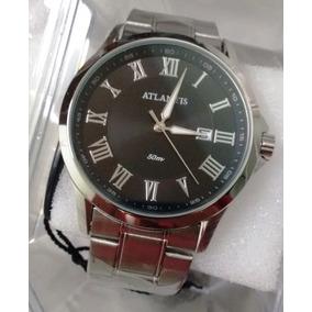 48b7b86a9ca Relogio Masculino Algarismo Romano Atlantis - Relógio Masculino no ...