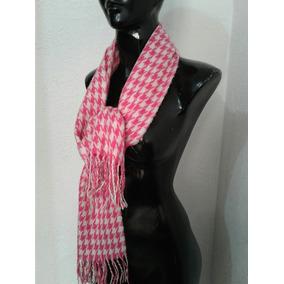 Bufanda Rosa Con Blanco Para El Frio