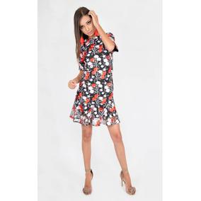 Vestido Reina Diaz Mesh Bordado 524563