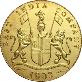 Moeda De Ouro India Britanica 1803 24 K
