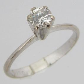 992d14c234f Anel Solitário Diamante De 25 Pontos Ouro Feminino - Anéis com o ...