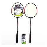 Kit Esporte Badminton Com 2 Raquetes 3 Petecas - Oferta