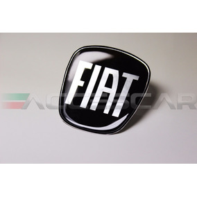 Kit 3 Adesivos Emblemas Fiat Preto Black Piano 500