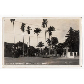 Cartao Postal Av. Brasil - Belo Horizonte - Mg - Anos 50