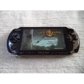 Psp Sony 3001 Original Desbloqueado Cartão 8 Gb Com 50 Jogos