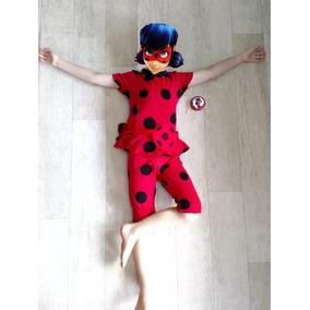 Fantasia Infantil Verao Ladybug Completa + Bolsinha + Tikky