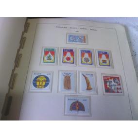 Um Album Com Selos Comemorativos Do Brasil De 1980 A1984