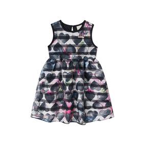 Vestido Em Tecido Organza Infantil Quimby