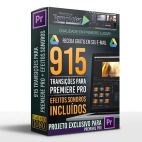915 Transições Para Premiere Pro + Efeitos Sonoros
