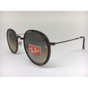 Ray Ban Round Dobravel Marrom - Óculos no Mercado Livre Brasil 1cfcce61aa490