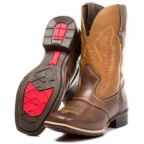 Bota Country Masculina Rodeio Couro Legitimo Texana Barretos b68731beb90