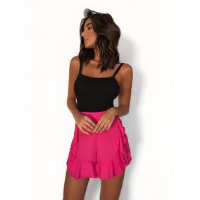 Roupa Feminina / Shorts Babado Pink Envio Imediato