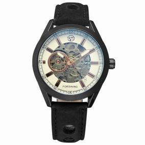 a11f8bb5379 Relógio Forsining Original Analóg Esqueleto Automático Couro