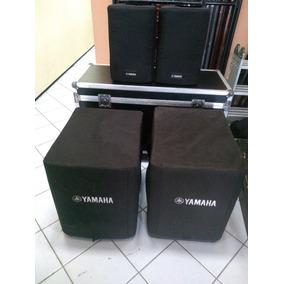 Yamaha Pa Dxr10 Caixas De Som Com Dxs15 Subwoofers