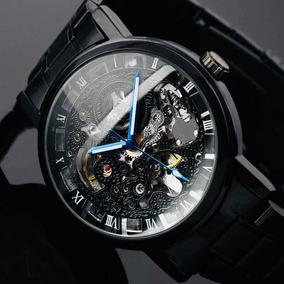 a5c6715b8877 Reloj Winner Skeleton Metal Mecánico Automático + Ajustador!