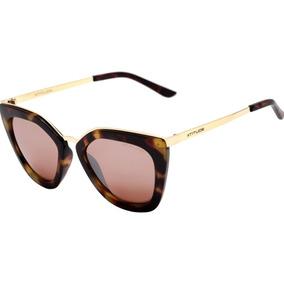 1f5ba5ea4d447 Atitude At 5340 - Óculos De Sol G22 Marrom E Dourado Brilho