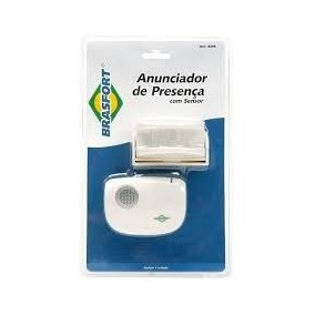 Sensor Anunciador De Presença, Raio De 100 Metros Brasfort