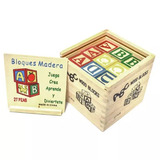 Cubos De Aprendizaje De Madera 27 Piezas Colores Letras Núme