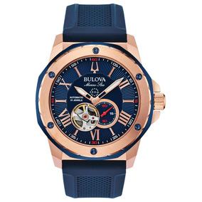 Relojes Bulova Marine Star Open Heart Nuevos Y Originales