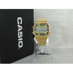 df88af4ddeb Relogio Casio Vintage Gold Camuflado - Relógios De Pulso no Mercado ...