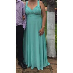 Vestido de madrinha verde tiffany para alugar