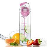 Botella De Agua 27oz Con Infusor De Frutas Color Rosa Avoin