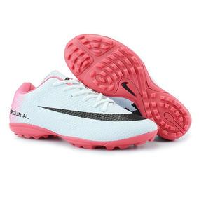 Chuteira Nike Cinza Rosa - Chuteiras no Mercado Livre Brasil e6c39b15e9854