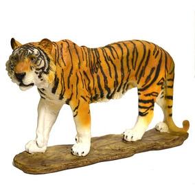 Estátua Tigre Puma Em Resina Enfeites Decorativos Estatua