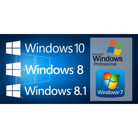 Windows 7 Ou 8 Ou 8.1 Ou 10 Prof 32/64bits Dvd Midia Fpp