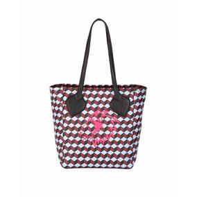 Bolsa Anne Klein Estampado De Cubos Multicolor