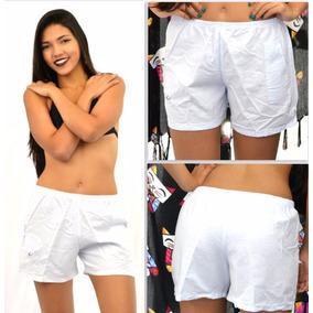 Shorts Plus Size 100% Algodão Puro Branco Tam Grandes Cx 668