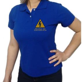 c16e704f8d701 Camisa Polo Feminina Azul Marinho - Pólos Manga Curta Femininas no ...