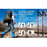 Bastón Trekking, Aluminio Brújula Alpinismo Senderismo