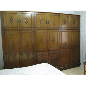 566729e1233 Dormitório Casal Em Cerejeira Maciça Detalhada - Completo