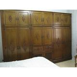 Dormitório Casal Em Cerejeira Maciça Detalhada - Completo