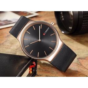 Relógio Ultra Thin Drop Curren 8256 Quartzo Luxo Masculino