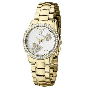 Relógio Champion Passion Feminino Ch24115h Strass Dourado