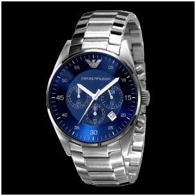 4ebdfae5bfb Relógio Empório Armani Ar5860 Azul Automático Original! - Relógios ...
