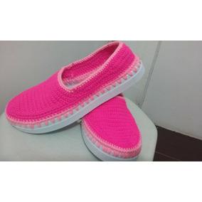 Hermosos Zapatos Tejidos A Mano Tallas ( 34-35-36-37)