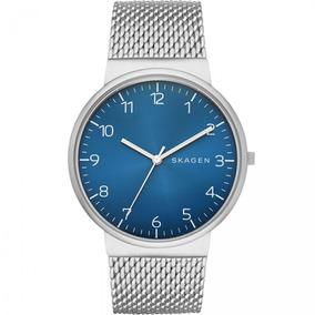 9a74b26e94222 Relógio Skagen Ancher Leather Slim Skw6024 Promoção! - Relógios De ...