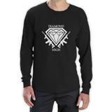 Diamond Vida Blanco Manga Larga Camiseta Skate Hip Hop 2f797dfd9aa
