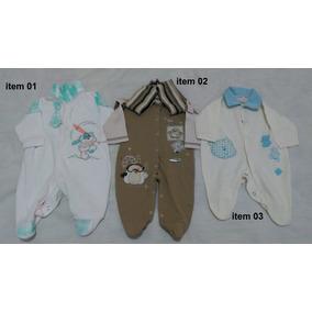 Lote 21 Macacão Manga Longa + 1 Curta Menino Infantil Bebê