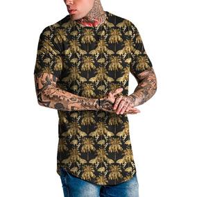 Camiseta Camisa Masculina Long Line Oversized Fashion Swag