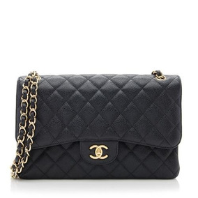 Bolsa Chanel Classic Flap Jumbo Caviar Ou Lambskin Na Caixa