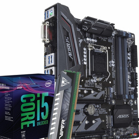 Kit Intel I5 8400 + Gigabyte Z370m Aorus Gaming + 8gb Ddr4