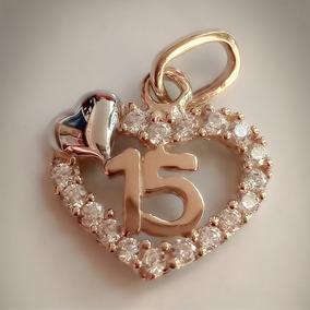 ddd3a7a0c1f3 Amor Eterno - Xv Años   Dije+cadena   Corazón Oro 10k Solido